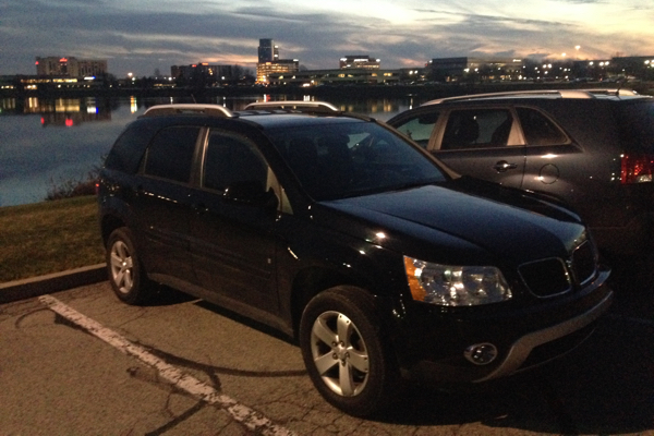 After 10 years, the Pontiac Vibe pictured at the top of this post was traded in for this Pontiac Torrent.