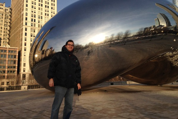 Erich at the Bean in Chicago