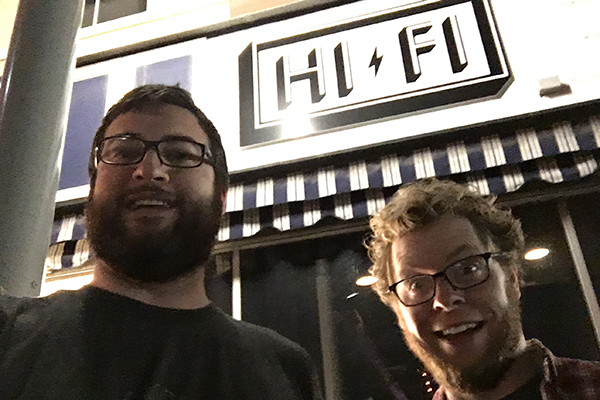 Erich and Jason at the Hi-Fi