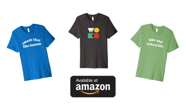 YouTube Simulator Shirts on Amazon