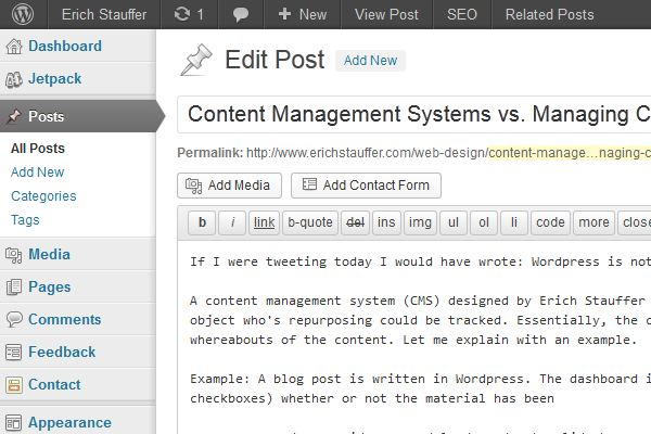 Content Management Systems vs. Managing Content